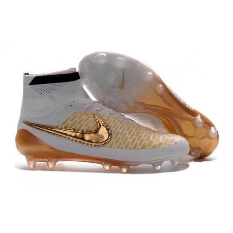 2016 Chaussures Mercurial Magista Obra FG Pas Cher Blanc Or Noir