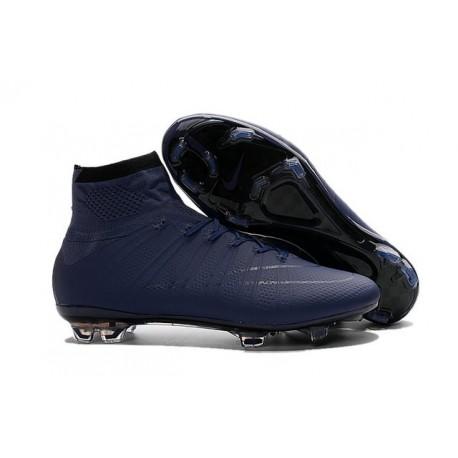 Chaussures Mercurial Superfly IV FG Nouvelle Pas Cher Bleu Foncé