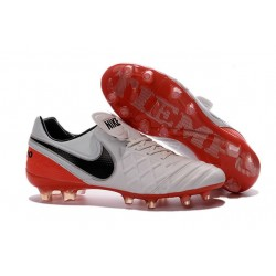 Nike 2016 Chaussures de Football Tiempo Legend 6 FG Blanc Rouge Noir