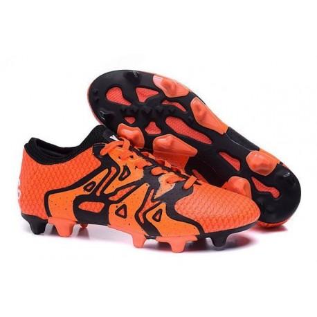 2016 Adidas Chaussures de Foot X15+ Primeknit FG/AG Orange Solaire Noir Orange Crampons Hommes