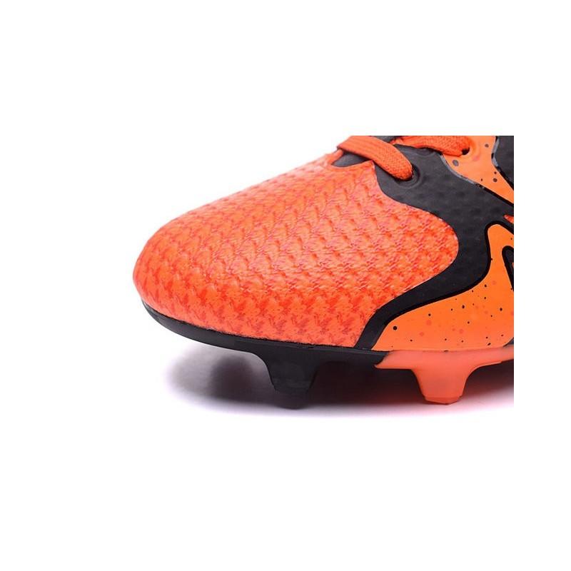 new style 283b8 fcce9 2016 Adidas Chaussures de Foot X15+ Primeknit FG AG Orange Solaire Noir  Orange Crampons Hommes