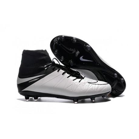 Hommes Nike HyperVenom Phantom II FG Chaussures de football ACC Blanc Noir