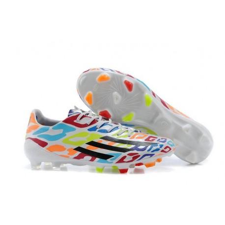 Chaussure Homme Adidas F50 Adizero Messi TRX FG Coloré Blanc