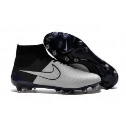 Nouvelle Homme Cramspon de Foot Nike Magista Obra FG Cuir Blanc  Noir