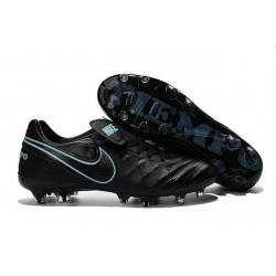 Nike 2016 Chaussures de Football Tiempo Legend 6 FG Noir Bleu