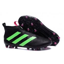 2016 Adidas Ace16+ Purecontrol FG/AG Chaussures de Football Vert Noir