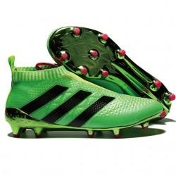 2016 Adidas Ace16+ Purecontrol FG/AG Chaussures de Football Solar Vert Noir Rose