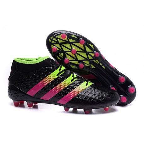 Chaussures de Football Hommes - adidas ACE 16.1 Primeknit FG/AG Noir Rose Volt