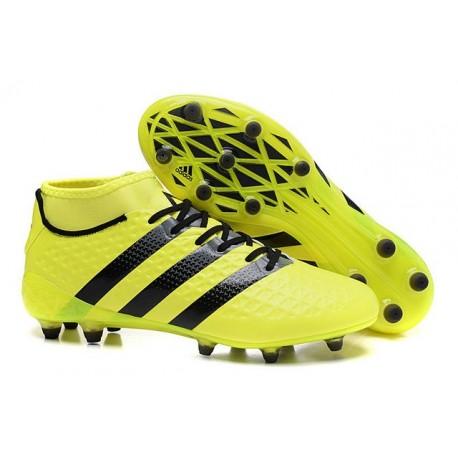 12c133314302 Chaussures de Football Hommes - adidas ACE 16.1 Primeknit FG AG Jaune Noir
