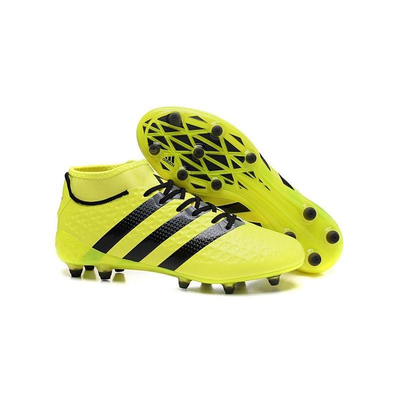 new product a32a0 48620 Chaussures de Football Hommes - adidas ACE 16.1 Primeknit FGAG Jaune Noir