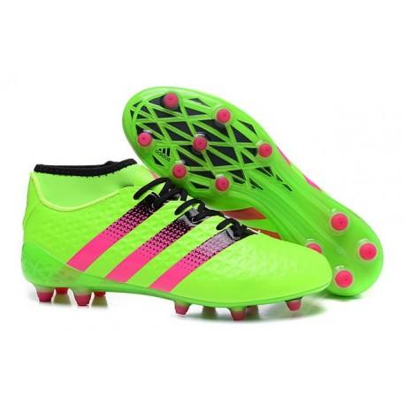 Chaussures de Football Hommes - adidas ACE 16.1 Primeknit FG/AG Vert Rose Noir