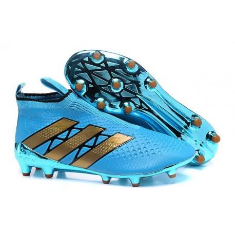2016 Adidas Ace16+ Purecontrol FG/AG Chaussures de Football Bleu Or
