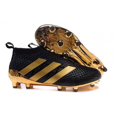 2016 Adidas Ace16+ Purecontrol FG/AG Chaussures de Football Paul Pogba Or Noir