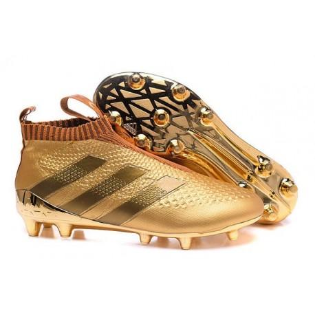 2016 Adidas Ace16+ Purecontrol FG/AG Chaussures de Football Or