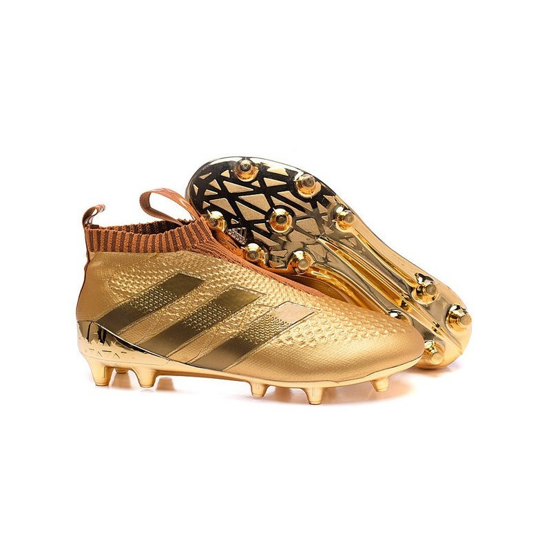 2016 Adidas Ace16+ Purecontrol FGAG Chaussures de Football Or