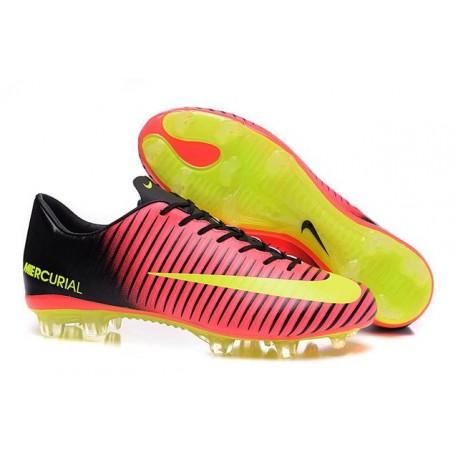 Chaussures pour hommes - Nike Mercurial Vapor 11 FG Crampons de Football Rose Volt Noir