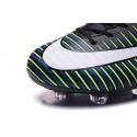 Chaussures pour hommes - Nike Mercurial Vapor 11 FG Crampons de Football Noir Blanc Bleu Volt
