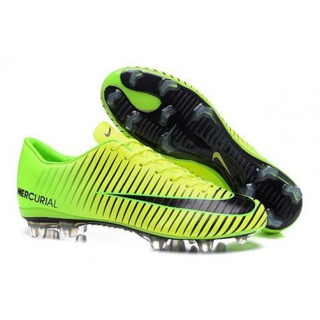 Chaussures pour hommes - Nike Mercurial Vapor 11 FG Crampons de Football Vert Noir