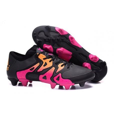 2016 Adidas Chaussures de Foot X 15.1 FG / AG - Crampons Hommes Rose Noir Orange