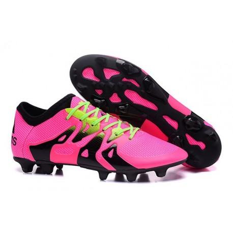 Nouvelles Adidas Chaussures de Foot X 15.1 FG/AG - Rose Noir Vert