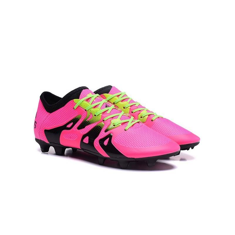 sports shoes 414e2 8f0b2 ... aliexpress nouvelles adidas chaussures de foot x 15.1 fg ag rose noir  vert fcc23 a6c2e