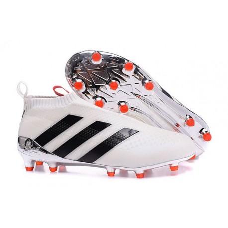 2016 Adidas Ace16+ Purecontrol FG/AG Chaussures de Football Blanc Noir Rouge