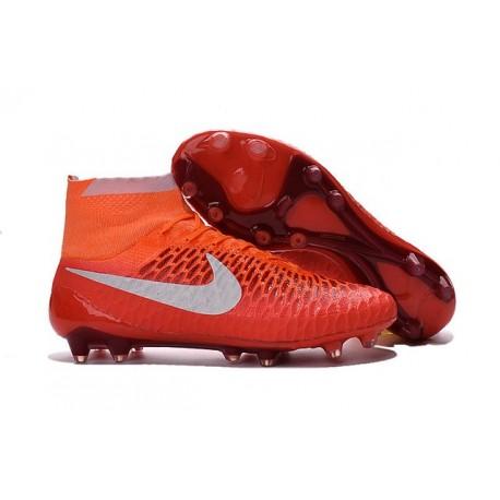Nouvelle Homme Cramspon de Foot Nike Magista Obra FG Orange Blanc