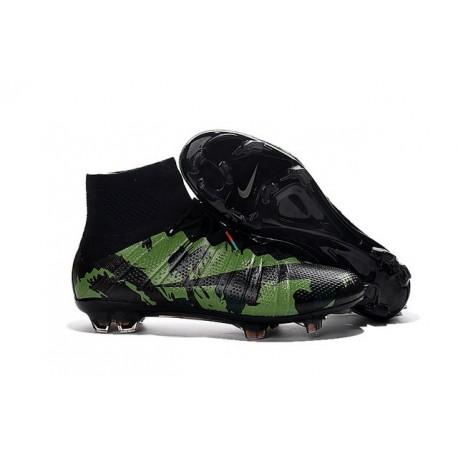Chaussures Mercurial Superfly IV FG Nouvelle Pas Cher Camo Noir
