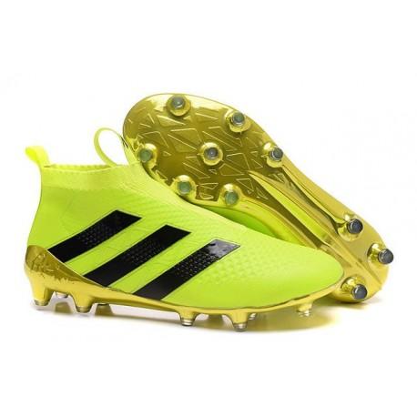 2016 Adidas Ace16+ Purecontrol FG/AG Chaussures de Football Volt Or Noir