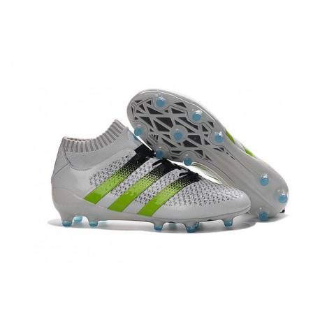 Chaussures de Football Hommes - adidas ACE 16.1 Primeknit FG/AG Blanc Vert Noir