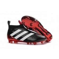 2016 Adidas Ace16+ Purecontrol FG/AG Chaussures de Football Noir Rouge Blanc