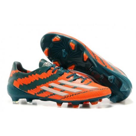 2014/2015 Adidas F50 Adizero Messi TRX FG SYN Vert Orange Blanc