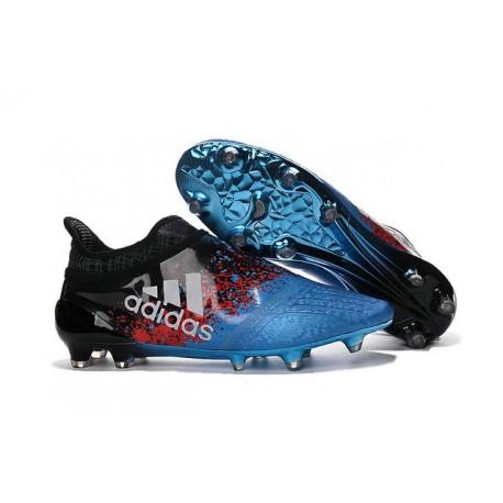 2016 Adidas X 16+ Purechaos FG/AG pour Homme Bleu Noir Rouge Blanc