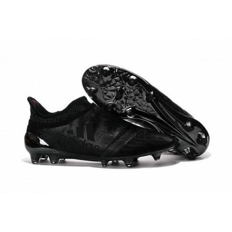 2016 Adidas X 16+ Purechaos FG/AG pour Homme Primeknit Tout Noir