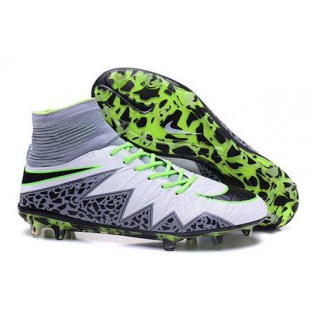 Hommes Nike HyperVenom Phantom II FG Chaussures de football ACC Blanc Vert Gris Noir