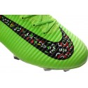 Chaussures Football Mercurial Superfly V FG 2016 Crampons pour Homme Vert Noir