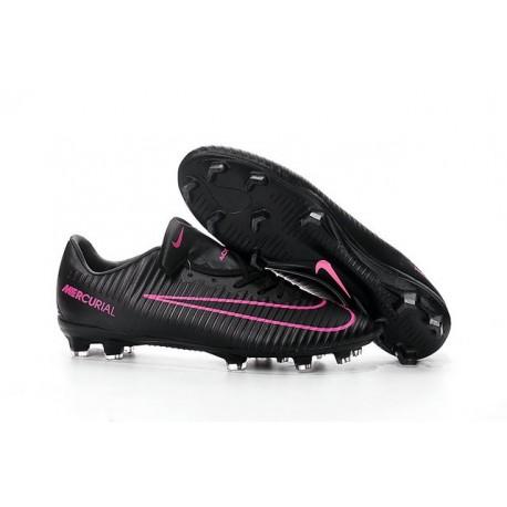 Chaussures pour hommes - Nike Mercurial Vapor 11 FG Crampons de Football Noir Rose