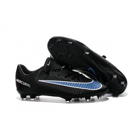 Chaussures pour hommes - Nike Mercurial Vapor 11 FG Crampons de Football Noir Bleu