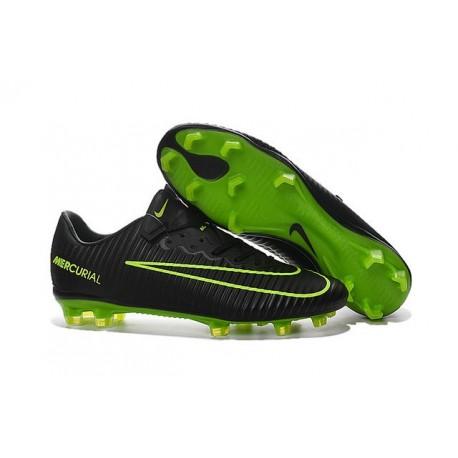 Chaussures pour hommes - Nike Mercurial Vapor 11 FG Crampons de Football Noir Vert
