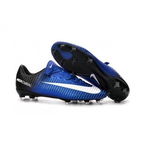 Chaussures pour hommes - Nike Mercurial Vapor 11 FG Crampons de Football Bleu Blanc Noir