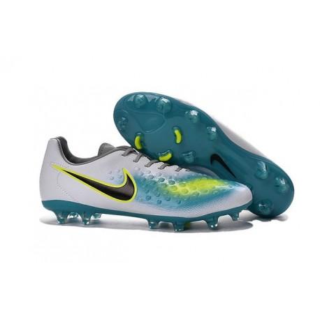 Chaussure De Football Nike Magista Opus II FG Pour Homme Blanc Hyper turquoise Noir