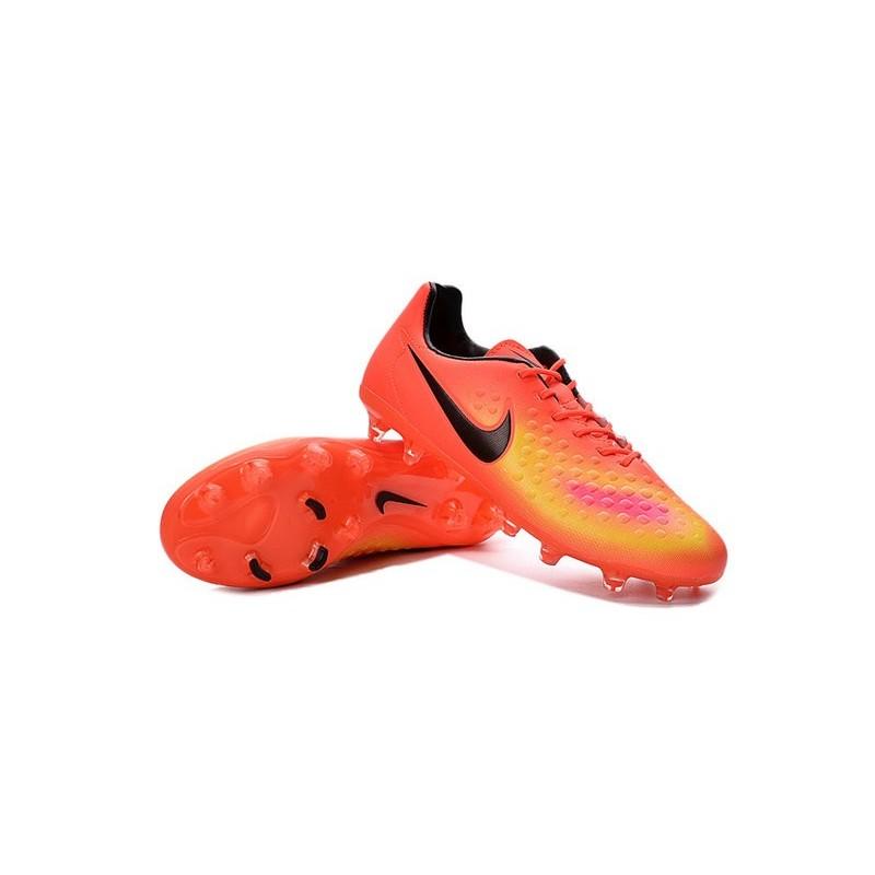 4fe40d41a94 Chaussure De Football Nike Magista Opus II FG Pour Homme Orange Jaune Rose  Noir