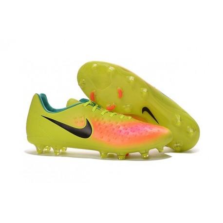 Chaussure De Football Nike Magista Opus II FG Pour Homme Volt Noir Orange