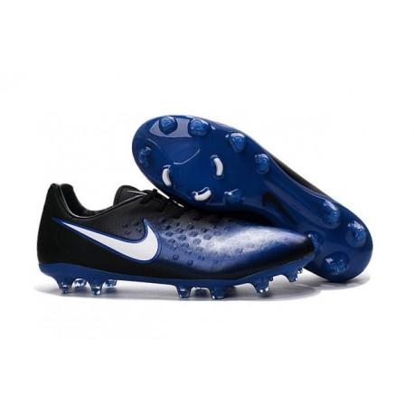Nouvelle Crampons Nike Magista Opus II FG Bleu Noir Blanc