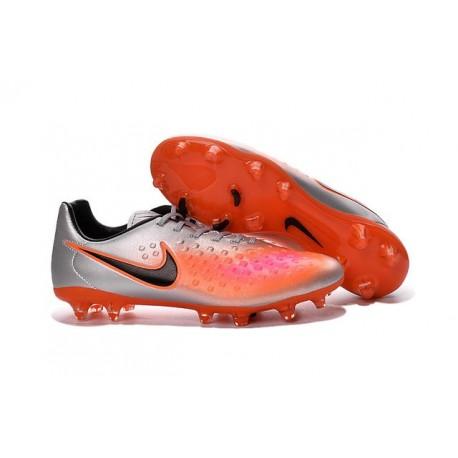 Chaussure De Football Nike Magista Opus II FG Pour Homme Argent Orange Noir