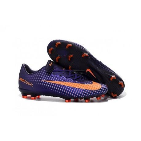 2016 Nike Mercurial Vapor 11 FG Crampons de Football pour Hommes Violet Orange