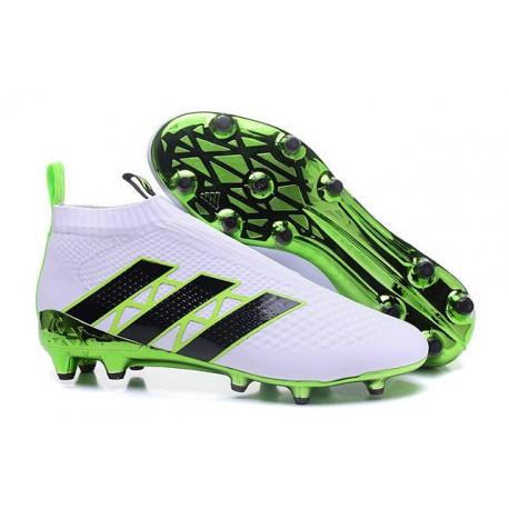 2016 Adidas Ace16+ Purecontrol FG/AG Chaussures de Football Vert Blanc Noir