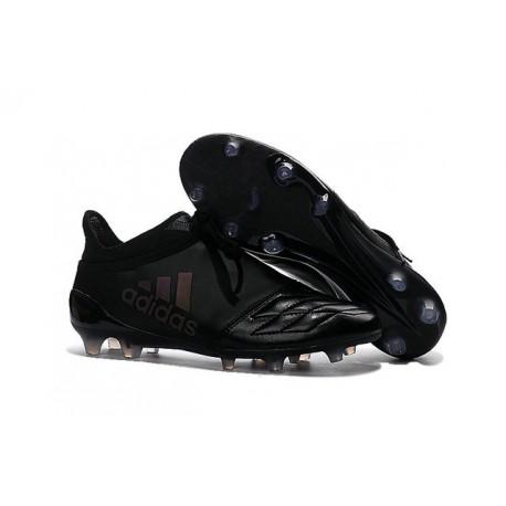 2016 Adidas X 16+ Purechaos FG/AG pour Homme Cuir Tout Noir
