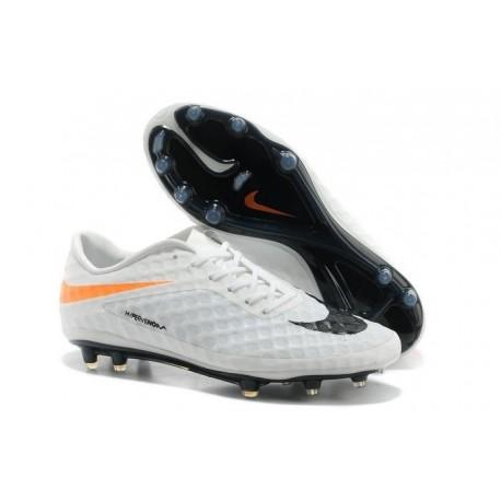 2014/2015 Nike Hypervenom Phantom FG Homme Blanc Orange Noir