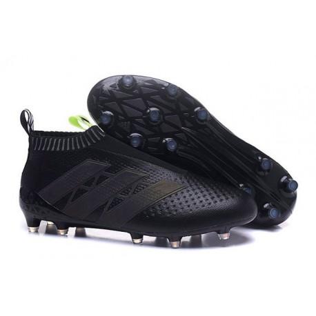 2016 Adidas Ace16+ Purecontrol FG/AG Chaussures de Football Noir Jaune